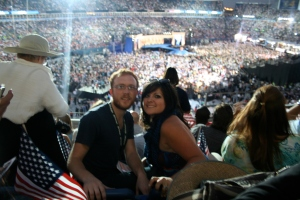Us right before the Obama Speech