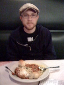 Mark with His Chicken Parm