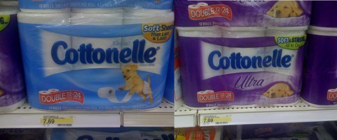 Cottonelle vs. Cottonelle Ultra - No contest